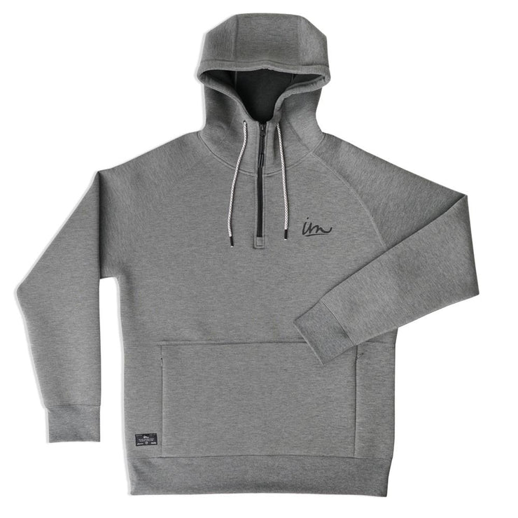 Filament 1/4 Zip Hoodie Gunmetal Heather
