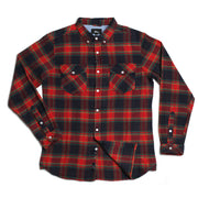 Greenwich Flannel Red Navy