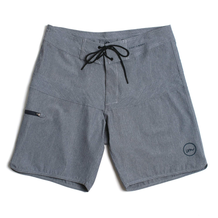 Hayworth Minimalist Boardshort Denim Melange