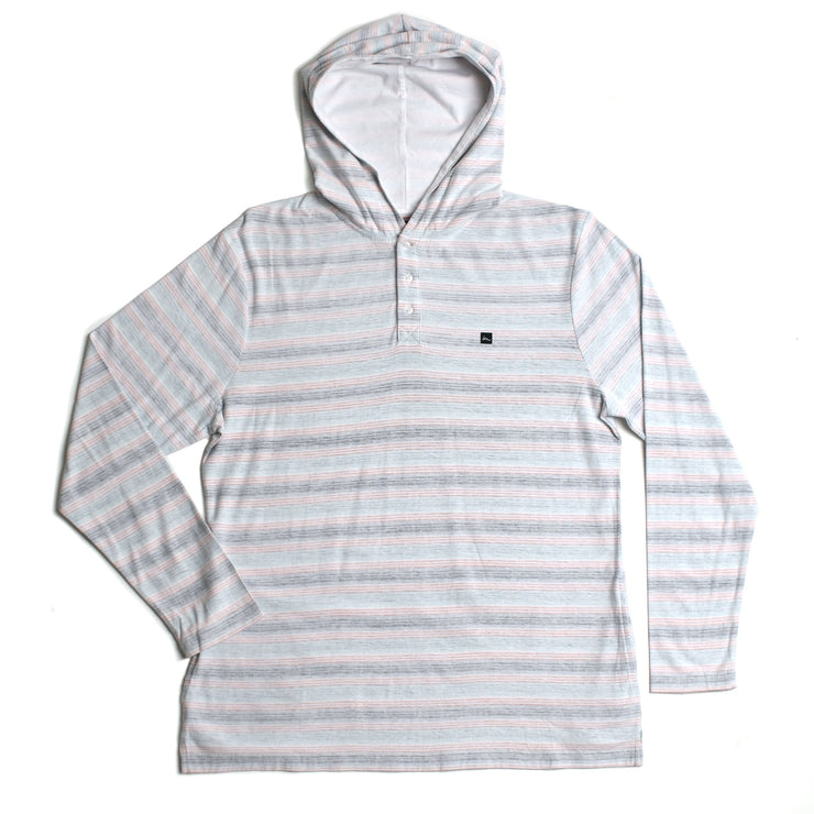Hombre Hooded Henley White