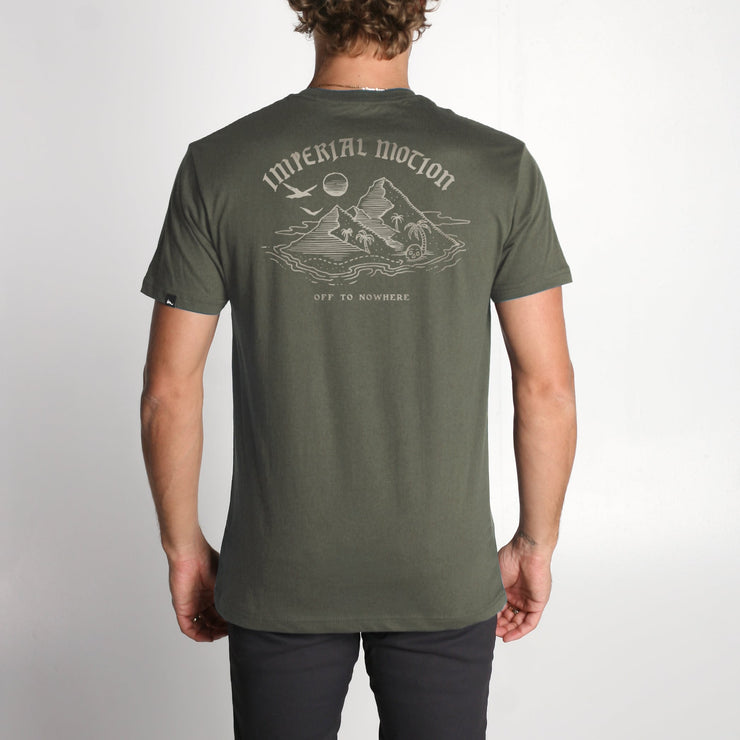 Island in the Sea Premium T-Shirt Olive