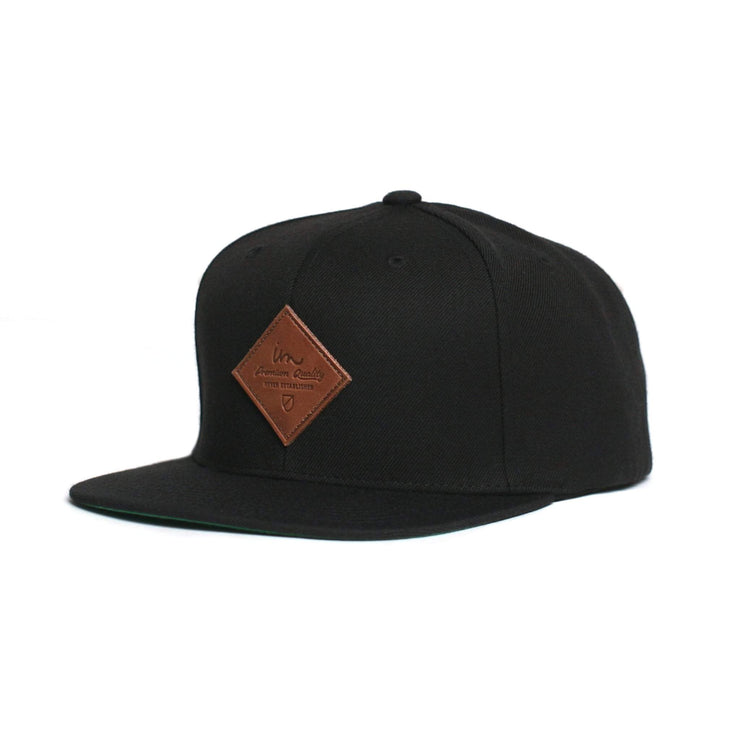 Merchant Snapback Hat Black
