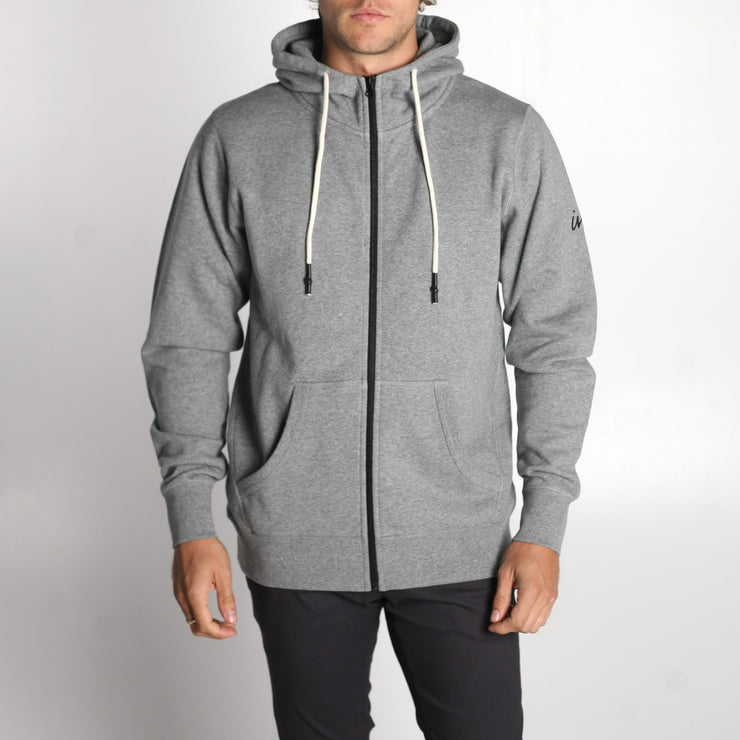 Mills Zip Up Sweatshirt Salt and Pepper