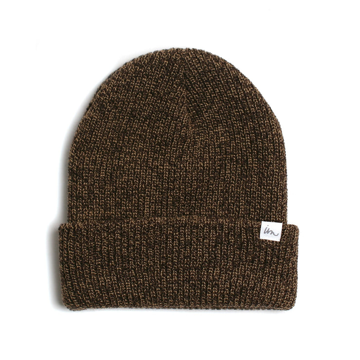 Norm Beanie Sandstorm Dark Brown Maple