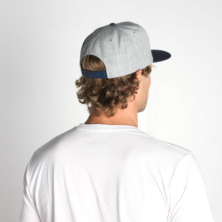 Native Snapback Hat Grey Heather Navy