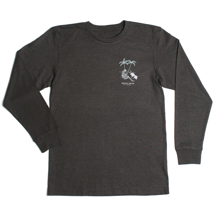 Off To Nowhere Premium LS T-Shirt Charcoal Heather Tri-Blend