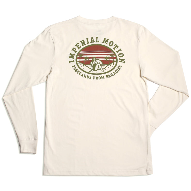 Postcards From Paradise LS T-Shirt Bone