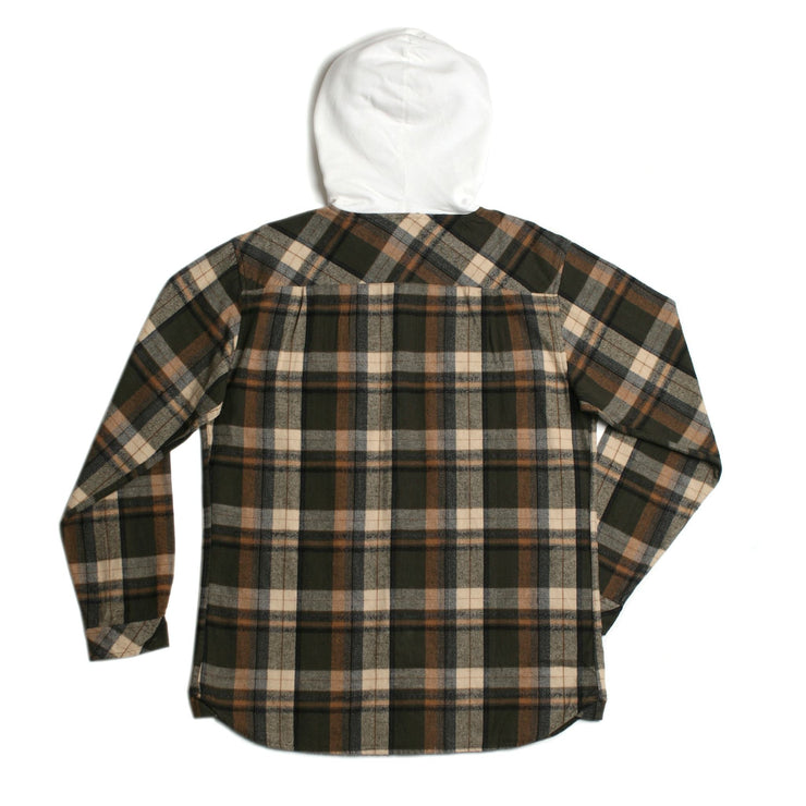 Parker Hooded Flannel Olive
