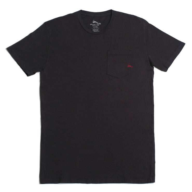 Premium Pigment Pocket T-Shirt Black Pigment
