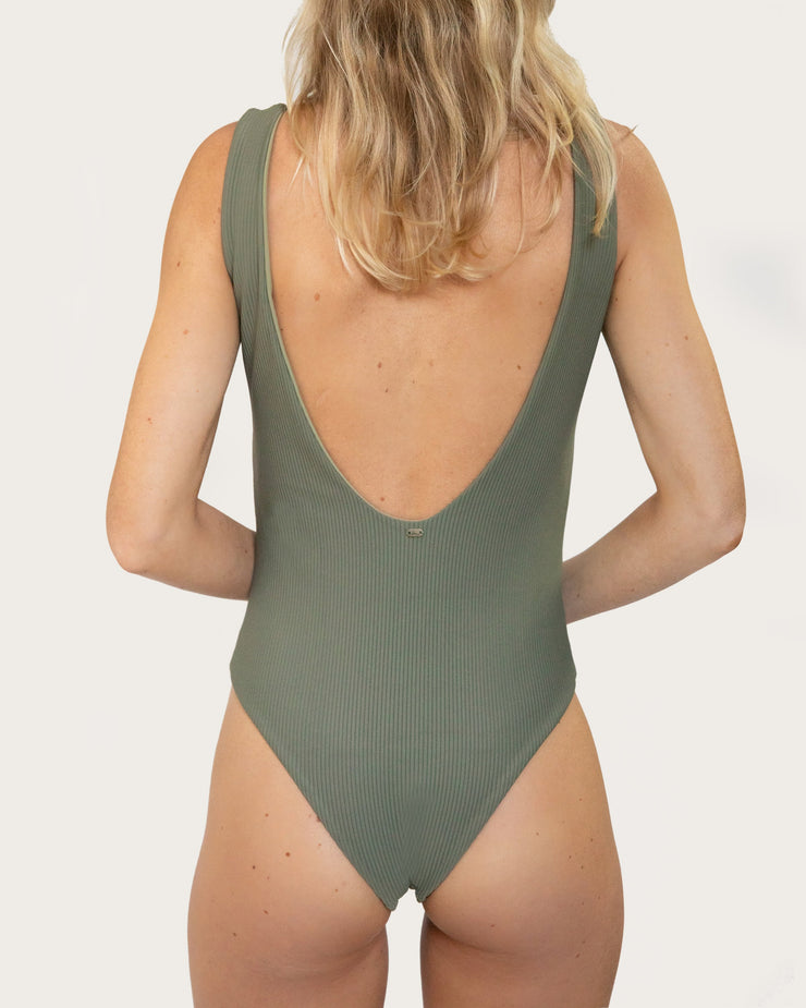 Seeker One Piece Olive Rib