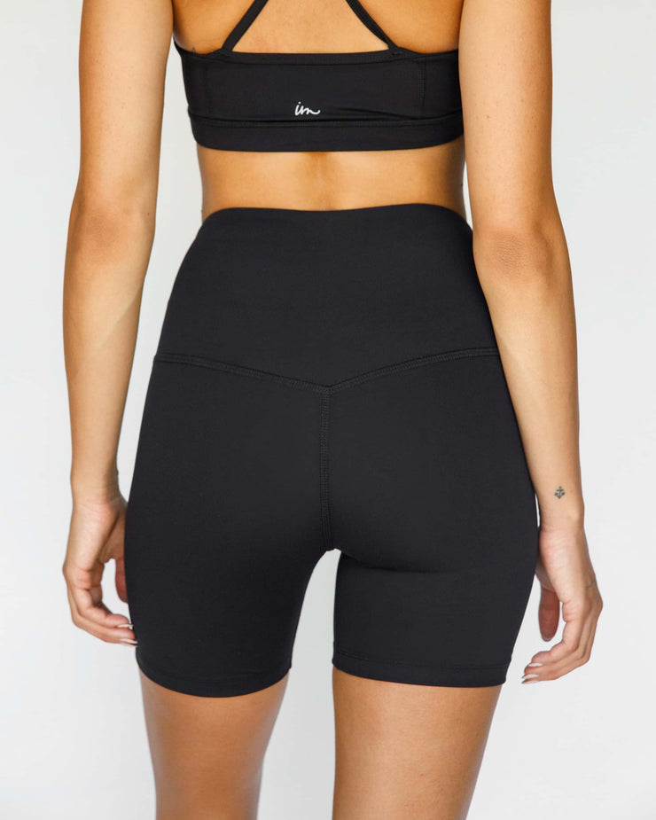 Solo High Waisted Biker Shorts Black