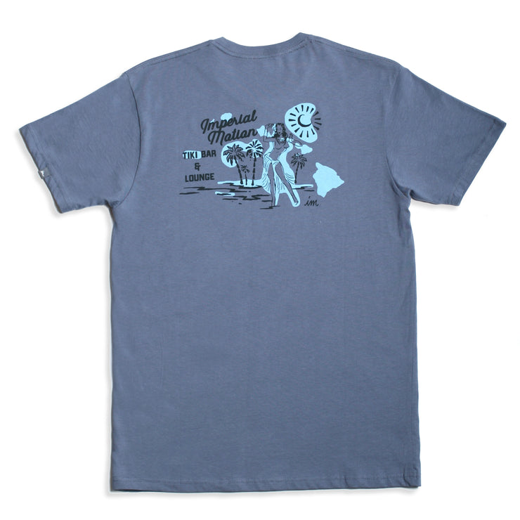 Tiki Bar Premium T-Shirt Denim Blue