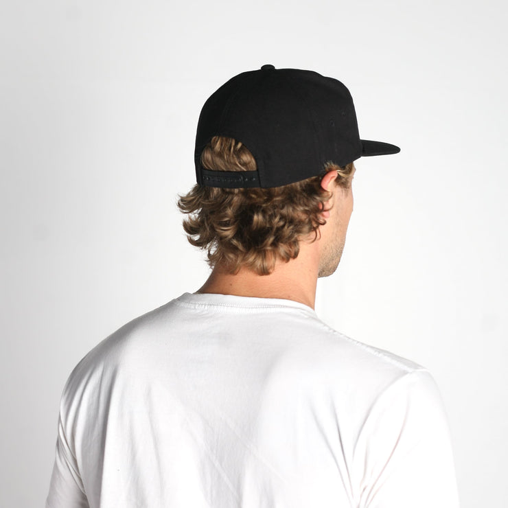 Timber Snapback Hat Black