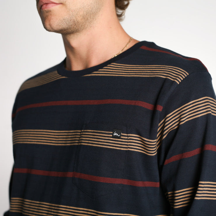 Vintage Pocket LS T-Shirt Navy