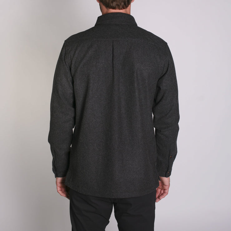 Winthrop Woolly Flannel Charcoal Melange