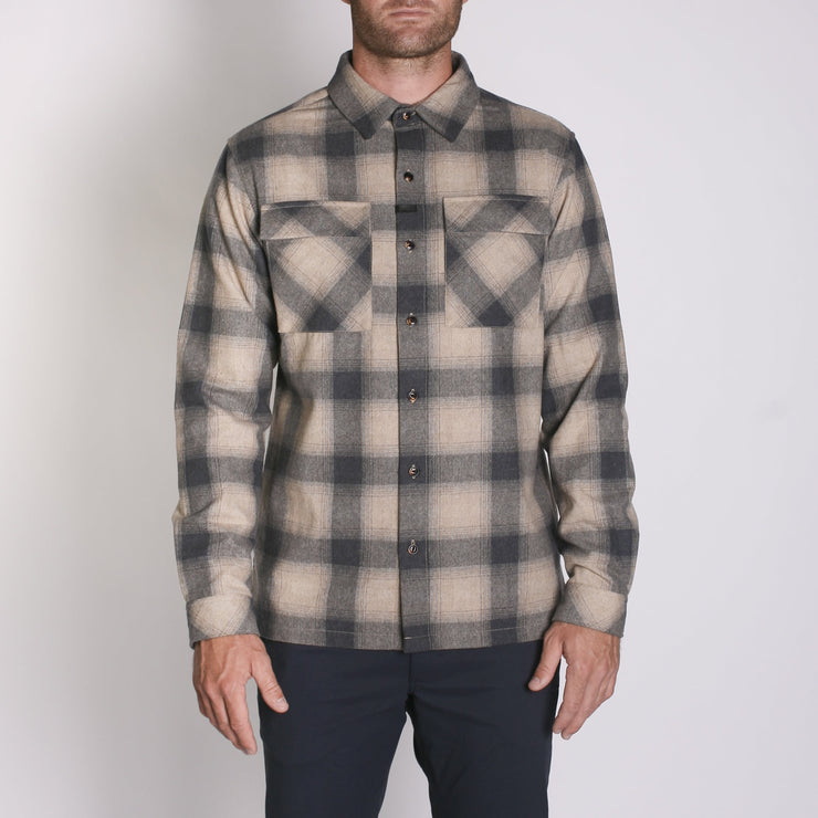Winthrop Woolly Flannel Desert Coal Plaid
