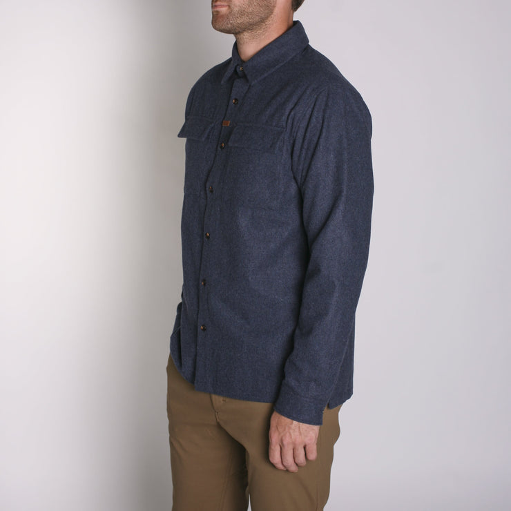 Winthrop Woolly Flannel Navy Melange