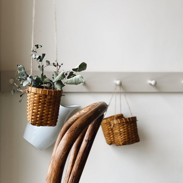 Wall Hanging Woodchip Basket
