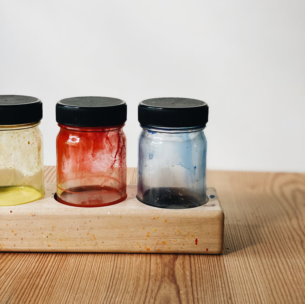 Glass Paint Jar with Lid