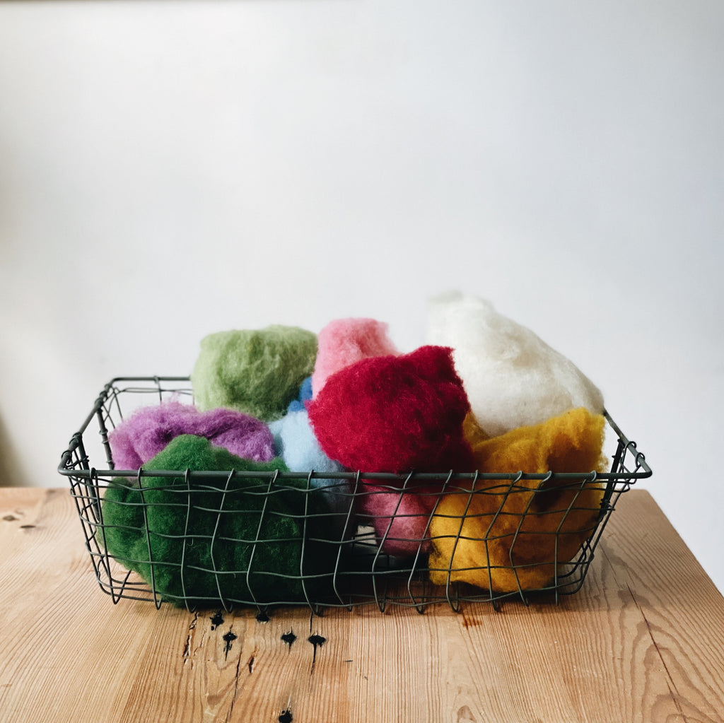 Plant-Dyed Roving Wool