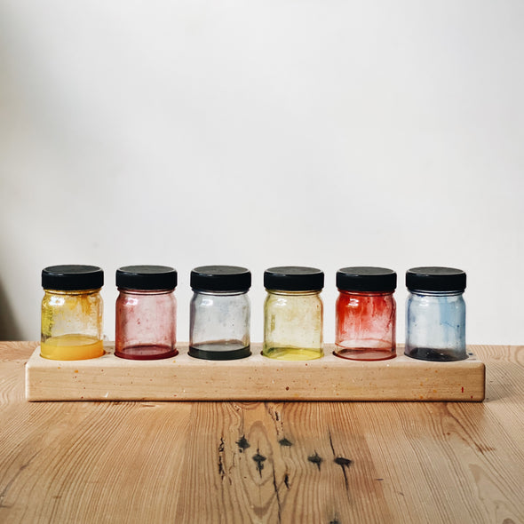 Wooden Paint Jar Holder
