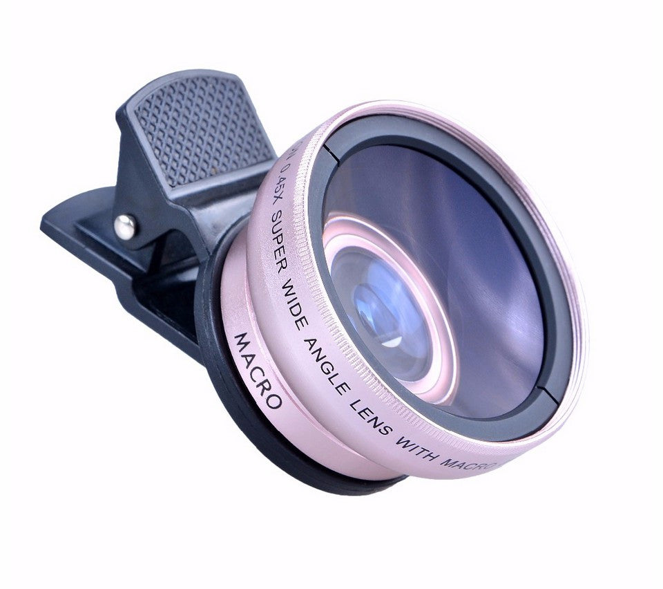 2 in 1 0.45X Super Wide Angle Lens with 12.5X Macro Lens