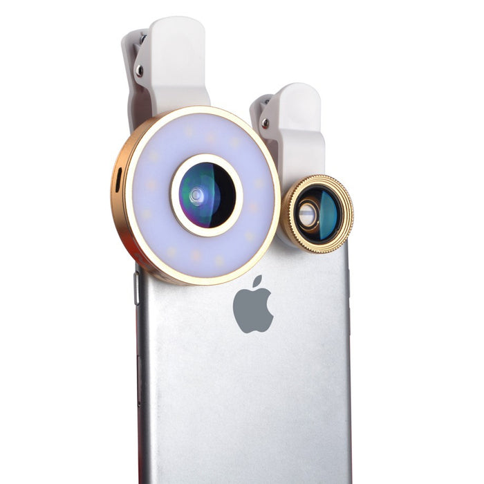 3 in 1 Lens with built in LED selfie light