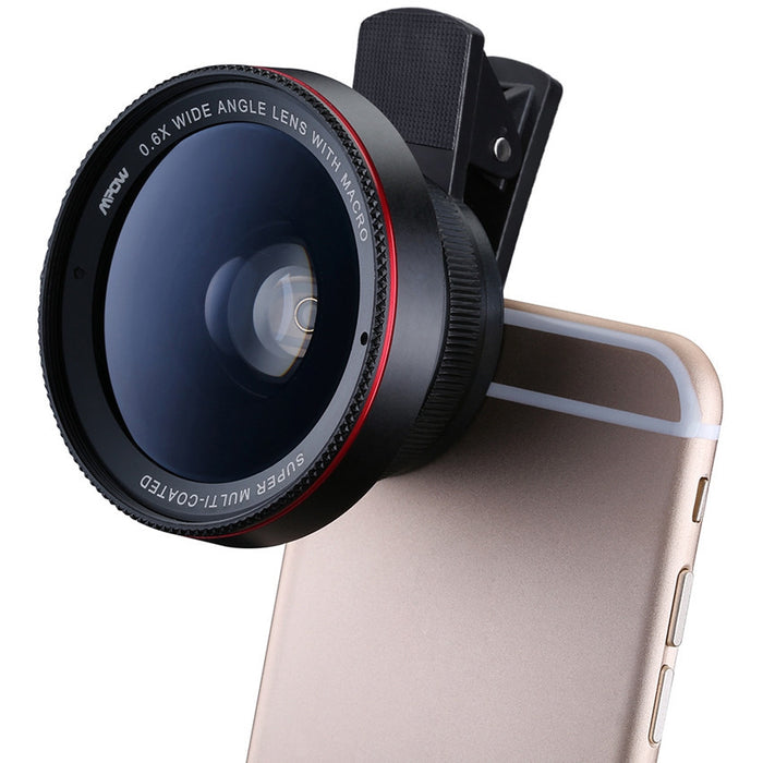 2 in 1 - 0.6X Wide Angle Lens With 10X Macro HD