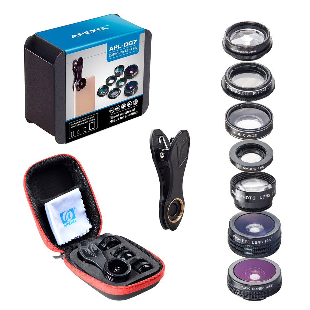 7 in 1 Universal Clip-On Lens Kit