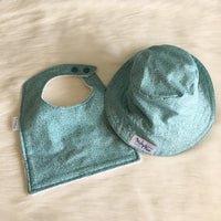 Baby bib and bucket hat sets