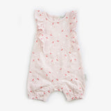 Cockatoo short sleeved jersey frill romper - Beanstork