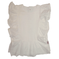 Girls Bonnie Top - White - Love Henry