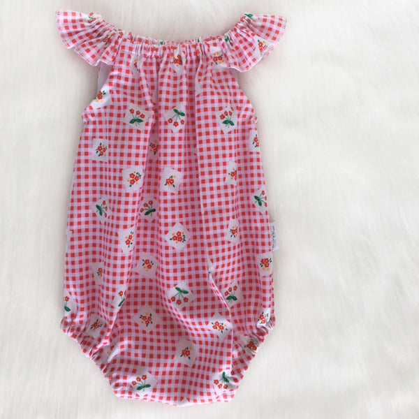 Pink Gingham Playsuit Sizes 000 - 0