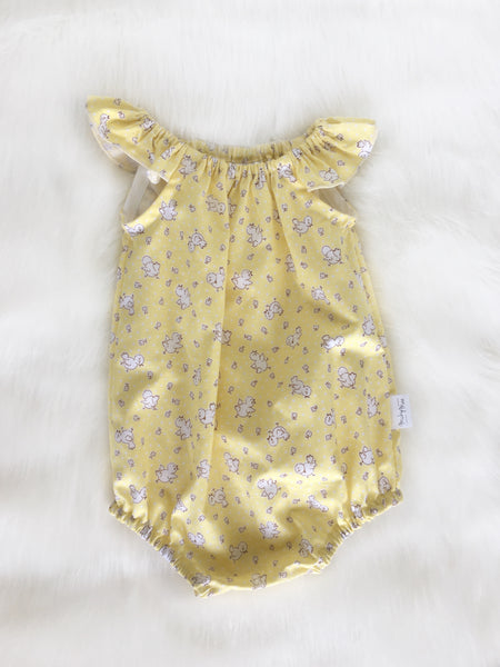 Yellow Chickens Playsuit Size 00