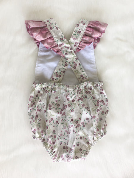 Melba Playsuit with flutters Size 0