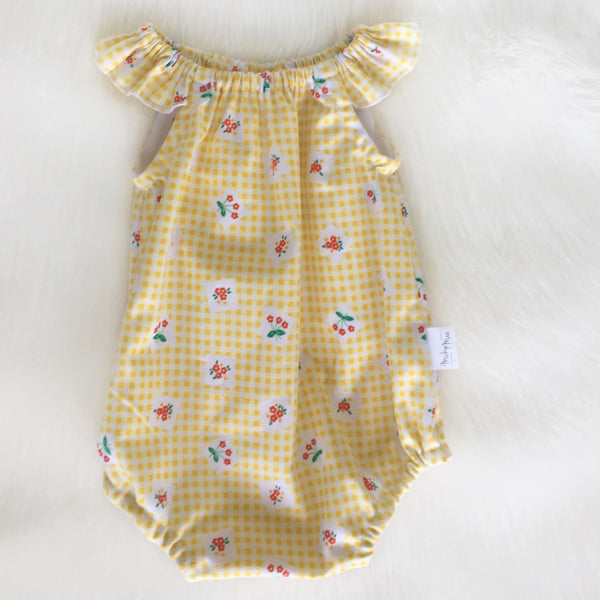 Yellow Gingham Playsuit Sizes 000 - 1
