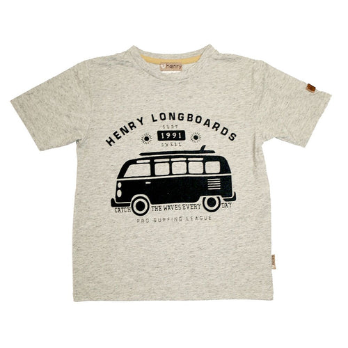 Boys Graphic Tee - Grey Combi