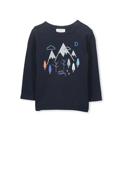 Mountains Tee - Navy