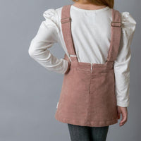 Girls Isla Overall dress - Pink Cord - Love Henry