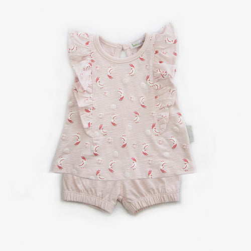 Cockatoo frill tee jersey 2pc set - Beanstork