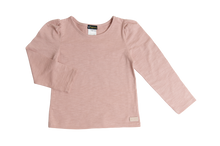 Puff Sleeve Knit Top - Pink - Love Henry