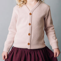 Baby Girls Basic Rib Cardigan - Light Pink - Love Henry