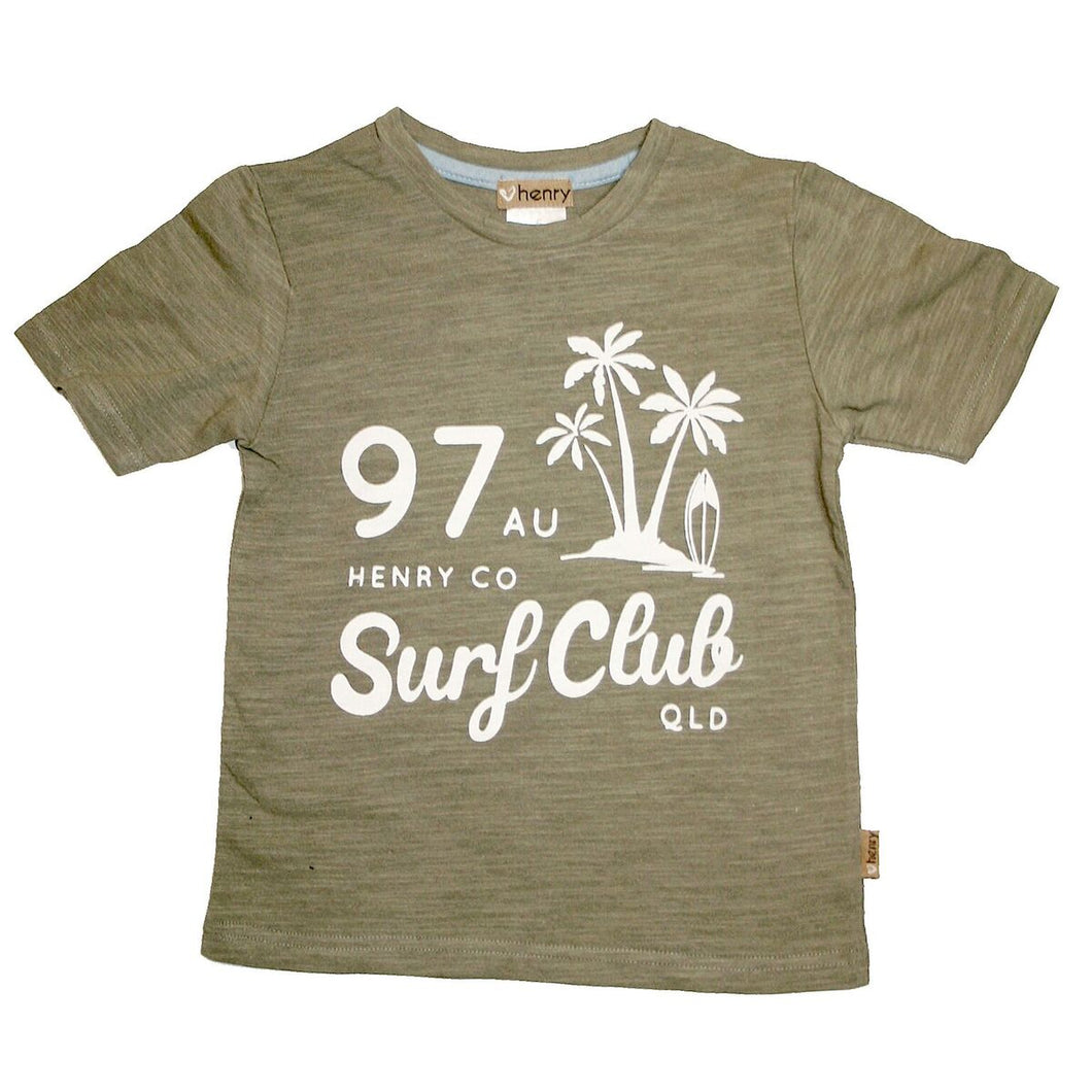 Boys Graphic Tee - Khaki surf club