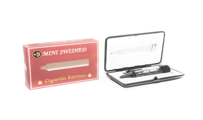 "Twisted Glass Blunt ""Swished Edition"" Matte Black Cigarillo Mini Travel Edition"