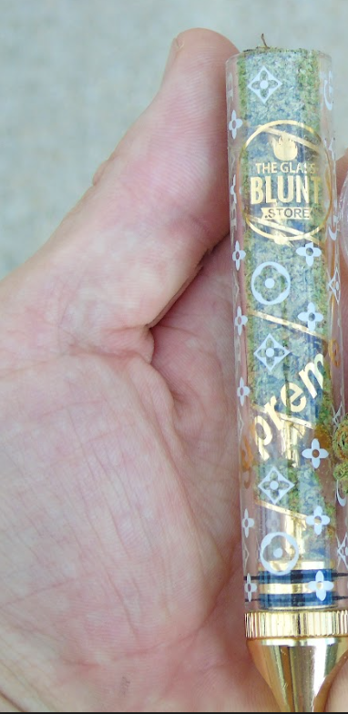 "Twisted Glass Blunt ""Supreme Designer Edition"" Gold Blunt (Full Size)"