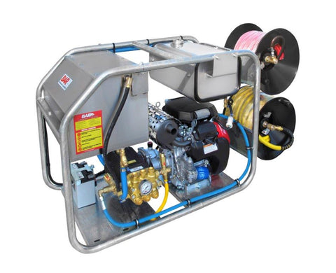 4,300 PSI Python Vanguard Drain Cleaner Trailer Jetter