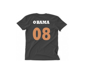 OBAMA GOLD/WHITE TEXT, BLACK T MENS