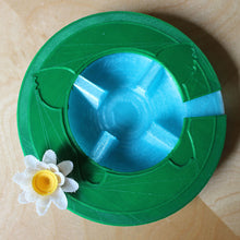 Lilypad drip tray with flower