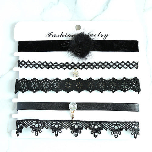 New Fashion Choker Haskette Schwarz