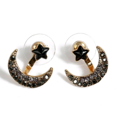 Lunar Eclipse 2 In 1 Ear Jackets/Studs